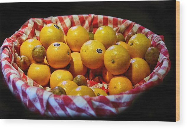Food Wood Print featuring the photograph Oranges Plus More by Linda Phelps