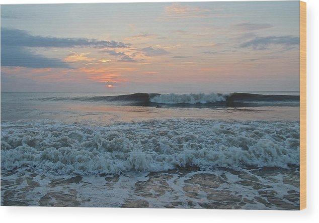 Wood Print featuring the photograph Pastel Peeler by Sandbridge Sunrise