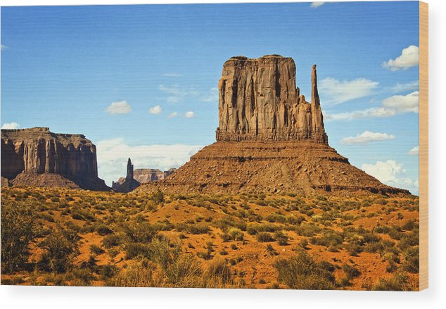 Monument Valley Wood Print featuring the photograph The West Mitten by Saija Lehtonen