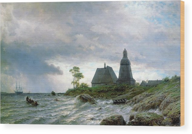 Lev Feliksovich Lagorio Wood Print featuring the painting Landscape by MotionAge Designs