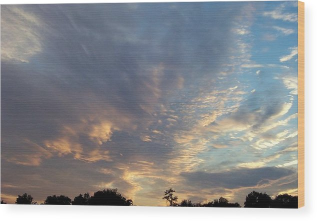 Skyscape Wood Print featuring the print Untitled by Beverly Baxter