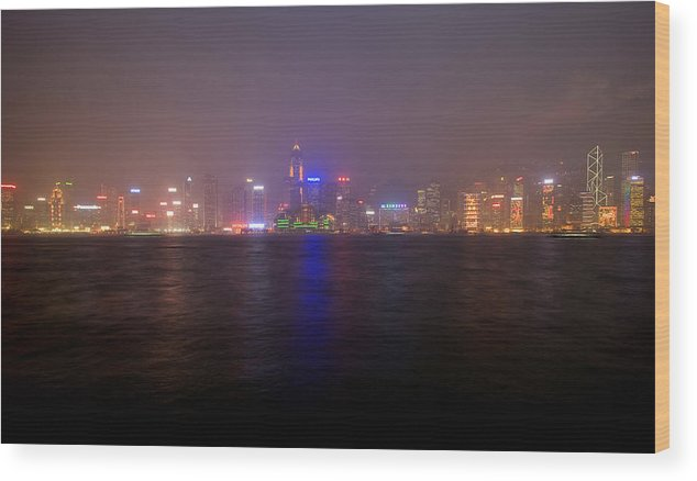 Harbor Wood Print featuring the photograph Hong Kong Harbor December 2 by Brad Rickerby