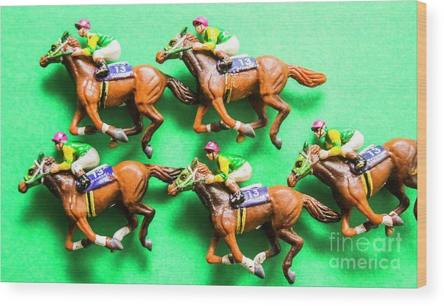 Horse Wood Print featuring the photograph Horse Racing Carnival by Jorgo Photography - Wall Art Gallery
