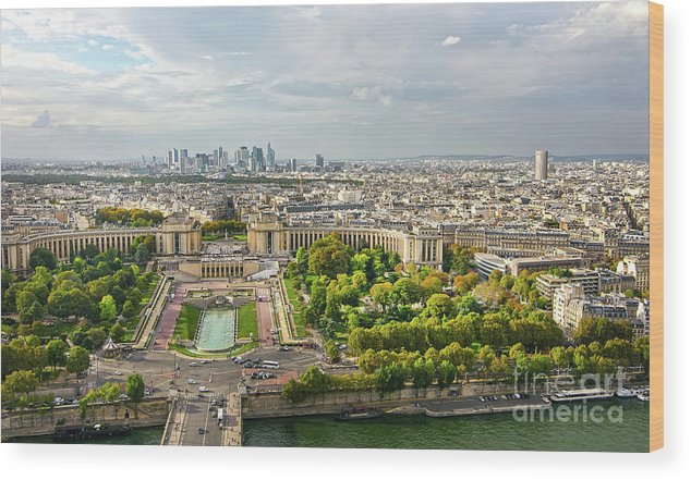 Paris Wood Print featuring the photograph Paris City View 27 by Alex Art and Photo