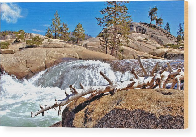 Silver Creek Wood Print featuring the photograph Silver Creek Up High by Josephine Buschman
