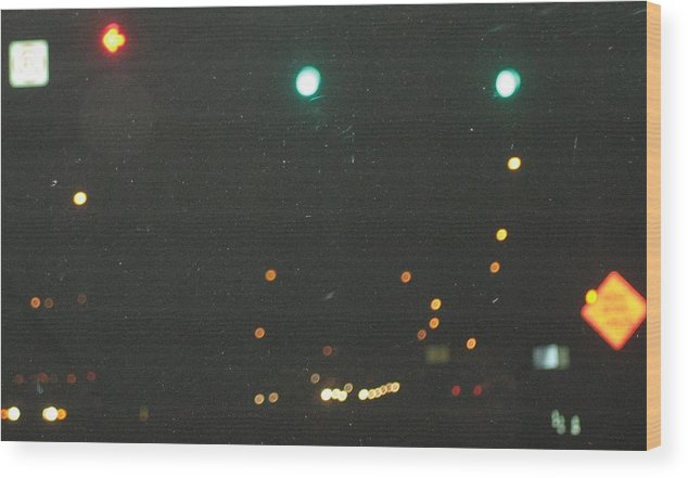 Lights Wood Print featuring the photograph Standard Disolution by Stephen Hawks