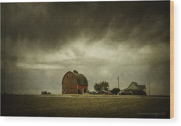 Barn Wood Print featuring the photograph Summer Storm by Deanna Sandquist
