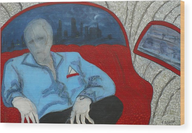 Painting Wood Print featuring the painting The Passenger by Todd Peterson