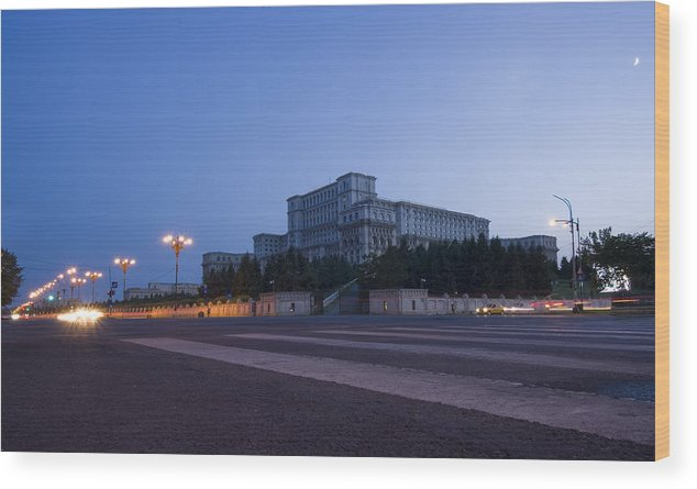 Administration Wood Print featuring the photograph Palace Of The Parliament by Ioan Panaite
