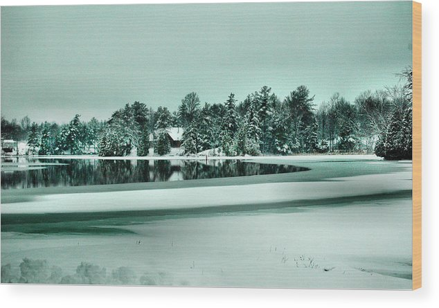 Rcouper Wood Print featuring the photograph Winter Stream by Rick Couper