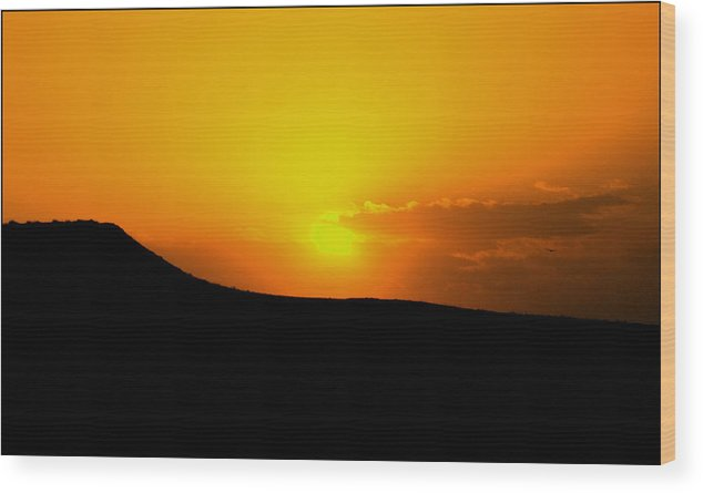 Sunset Wood Print featuring the photograph Sunset Behind by Hussein Kefel