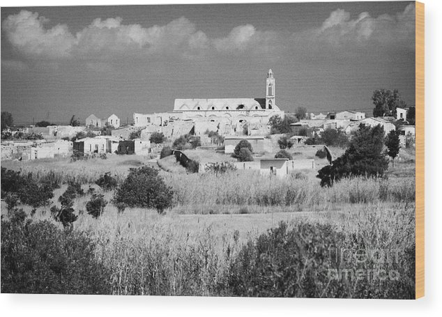 United Wood Print featuring the photograph Achna Abandoned Greek Village Now Within The Un Buffer Zone In The Green Line Dividing Cyprus by Joe Fox