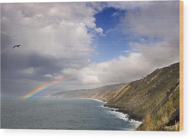 Spain Wood Print featuring the photograph Rainbow From The Sea by Rafa Rivas