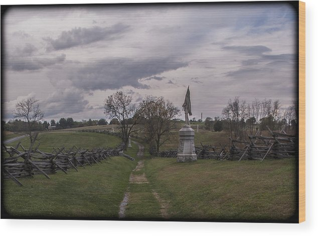 Antietam Wood Print featuring the photograph 101514-236 by Mike Davis