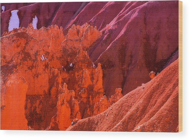 Bryce Textures In Red Wood Print featuring the photograph Bryce Textures In Red by Viktor Savchenko