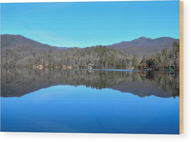 Lake Wood Print featuring the photograph Lake In North Carolina by Heather Nicole Williams