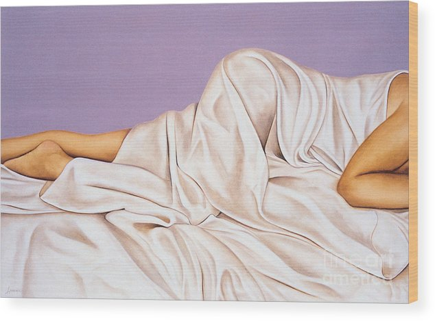 Lawrence Supino Wood Print featuring the painting Sweet Dreams by Lawrence Supino