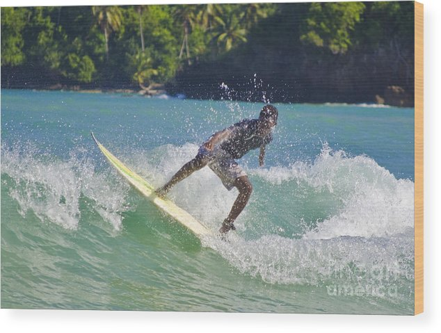 Alex Encarnacion Wood Print featuring the photograph Alex Encarnacion Surf 2 by John Lee Montgomery III