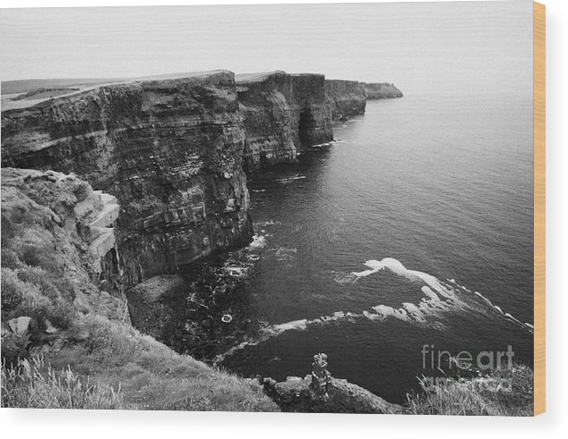 Ireland Wood Print featuring the photograph Cliffs Of Moher County Clare Ireland by Joe Fox
