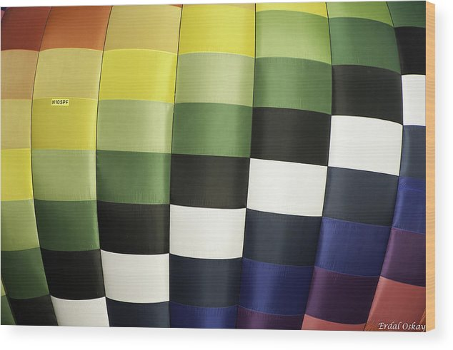 Balloon Wood Print featuring the photograph Colors by Erdal Oskay