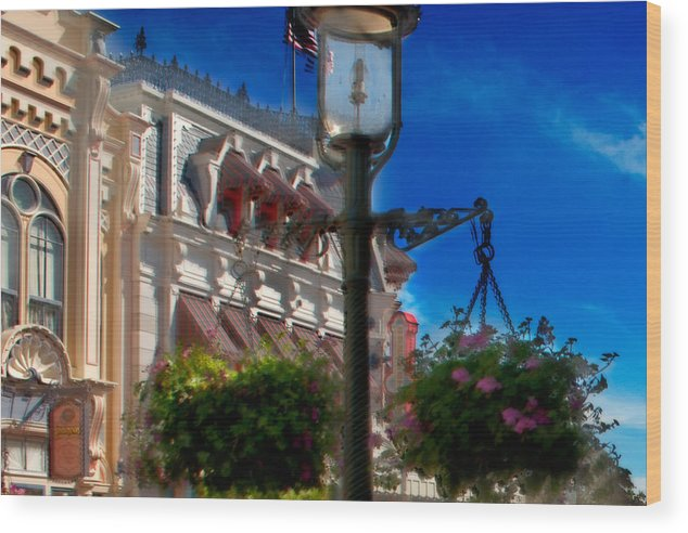 Mickey Wood Print featuring the photograph Lamp Post by Ryan Crane
