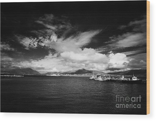Ireland Wood Print featuring the photograph small knightstown harbour Valentia Island Iveragh Peninsula Ring of Kerry Ireland by Joe Fox