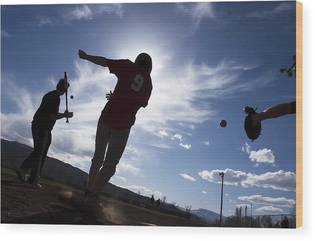 Training Wood Print featuring the photograph Spring Training by Paul Conrad
