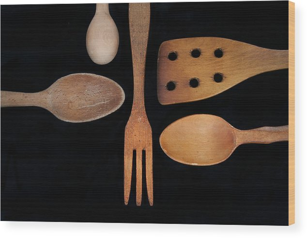 Wood Wood Print featuring the photograph Tools Of The Trade by Beth Achenbach