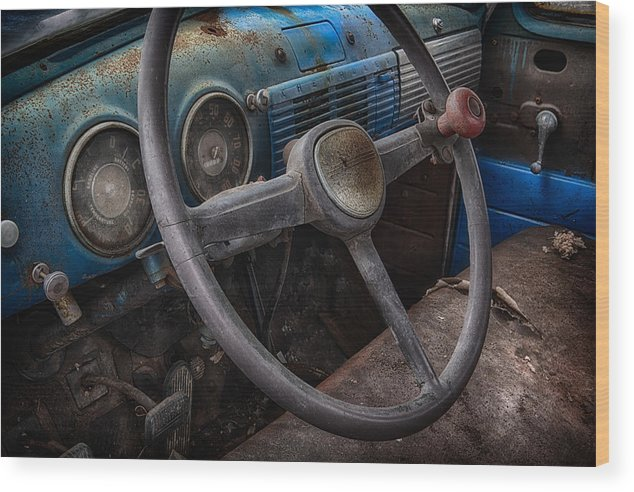 Old Cars Classic Car Wood Print featuring the photograph Vintage Truck 2 by Emmanuel Panagiotakis