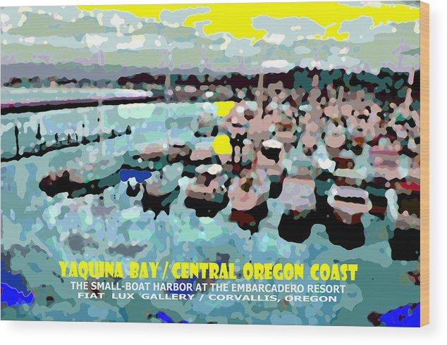 Yaquina Bay Wood Print featuring the digital art Yaquina Bay II by Michael Moore