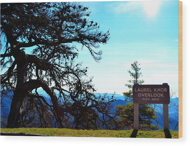 Mountains Wood Print featuring the photograph Laurel Knob Overlook by Heather Nicole Williams