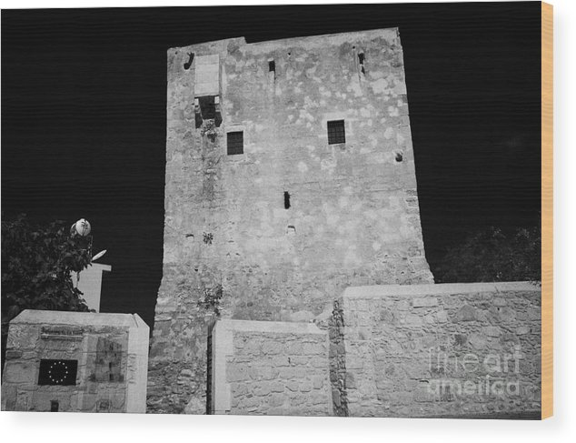 Restored Wood Print featuring the photograph restored pyla tower a UN Partnership for the future project UNDP-PFF by Joe Fox