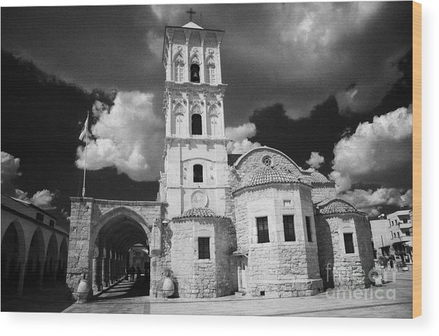 Saint Wood Print featuring the photograph St Lazarus Church With Belfry Larnaca Republic Of Cyprus Europe by Joe Fox