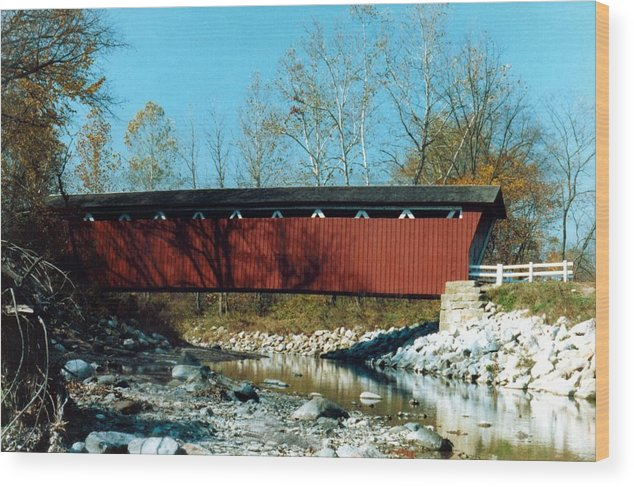 Bridge Wood Print featuring the photograph 072106-31 by Mike Davis