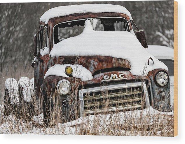 Allenfoto Wood Print featuring the photograph Backlot Treasure by Brad Allen Fine Art