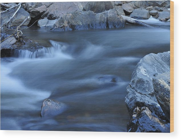 Water Wood Print featuring the photograph Creek 3 by John Anderson