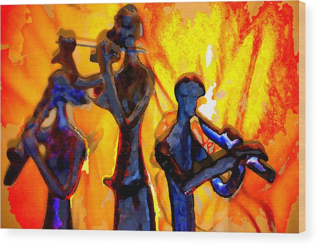Music Wood Print featuring the photograph Fire Music by Danielle Stephenson
