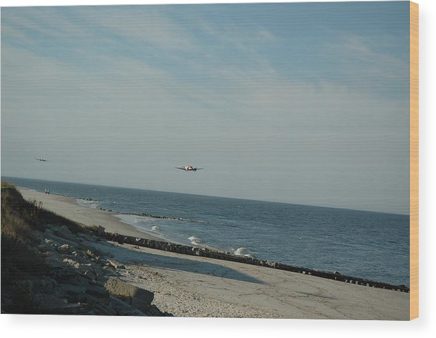Beach Wood Print featuring the photograph Flying The Beach by See Me Beautiful Photography