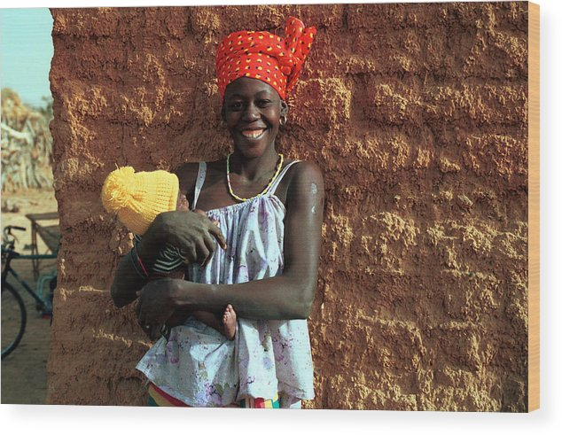 Geography Wood Print featuring the photograph Koundou Gina 1986 by Huib Blom