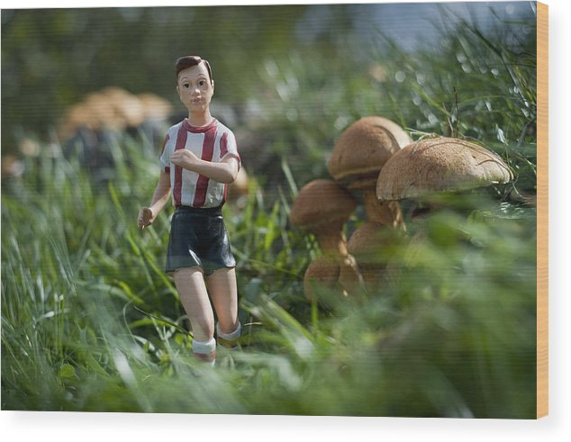 Spain Wood Print featuring the photograph Made In China Soccer Player by Rafa Rivas