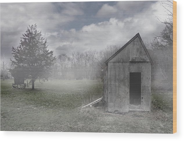 Farm Wood Print featuring the photograph Manor Road Farm by Tom Romeo