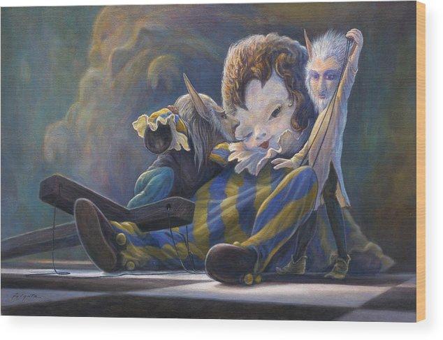 Leonard Filgate Wood Print featuring the painting The Marionette by Leonard Filgate