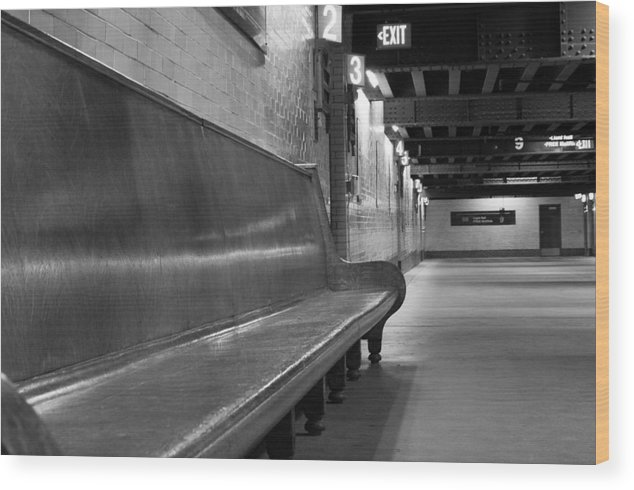 Train Station Wood Print featuring the photograph Train Station by John Anderson