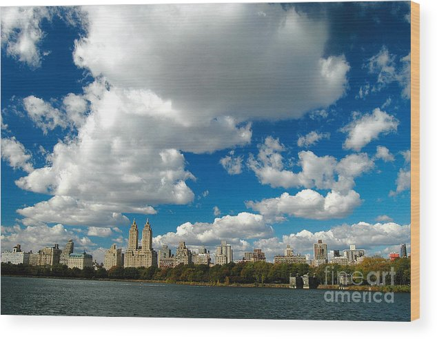 West Side Wood Print featuring the photograph Upper West Side Cityscape by Allan Einhorn