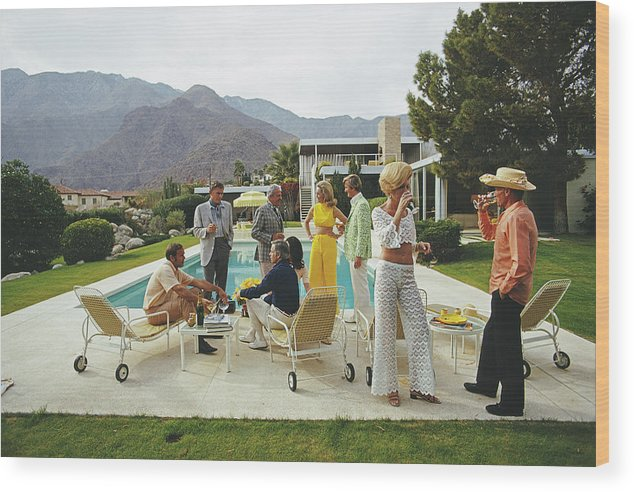 People Wood Print featuring the photograph Desert House Party by Slim Aarons