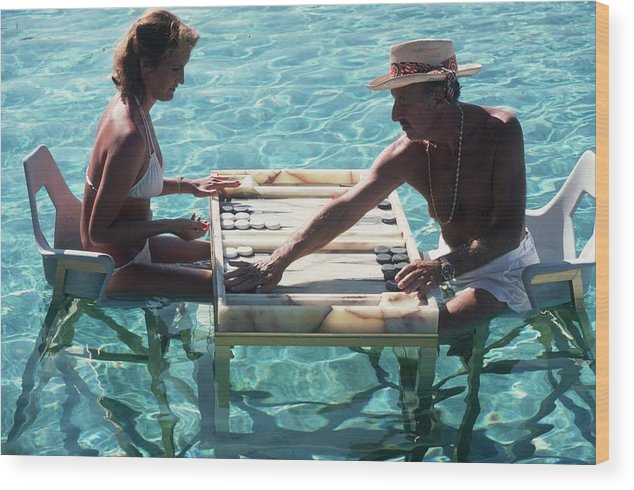Straw Hat Wood Print featuring the photograph Keep Your Cool by Slim Aarons