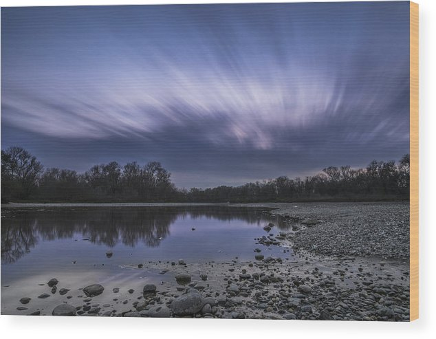 Sacramento Wood Print featuring the photograph The American River by Lee Harland