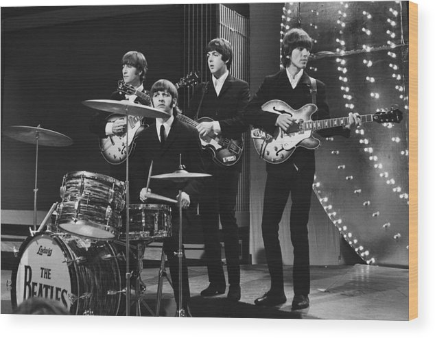 Beatles Wood Print featuring the photograph Beatles 1966 50th Anniversary by Chris Walter