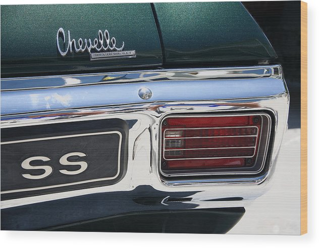 Chevelle Wood Print featuring the photograph Chevy Chevelle Malibu Super Sport by Morris McClung
