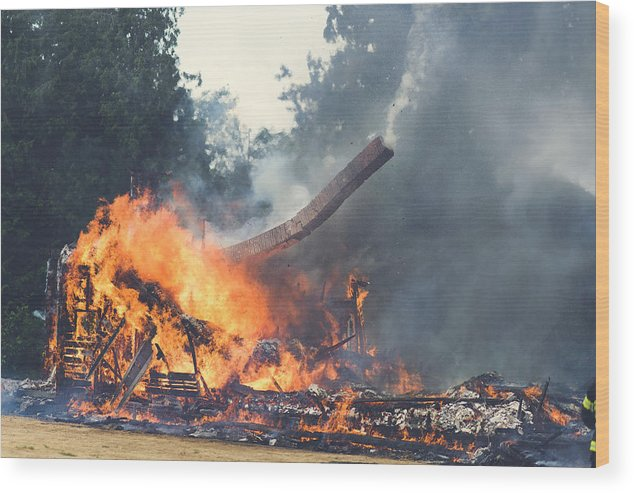 Wood Print featuring the photograph Chimney Still Works by Mark French